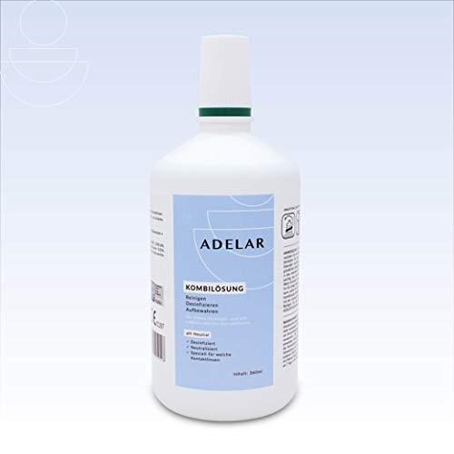 ADELAR Kontaktlinsenflüssigkeit für weiche Linsen - All In One Kombilösung (1x 360ml)