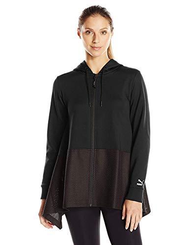 Sudadera con capucha y cremallera completa Evo Drapey para mujer, Puma Black, Medium