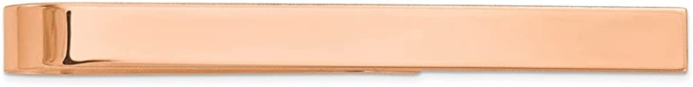 Finejewelers 14 kt Rose Gold Polished Tie Bar 50 mm x 4.5 mm