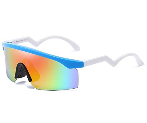 AILINSHA Gafas de Ciclismo para Gafas para Hombre, Gafas de Sol polarizadas al Aire Libre, UV 400 Gafas Deportivas White