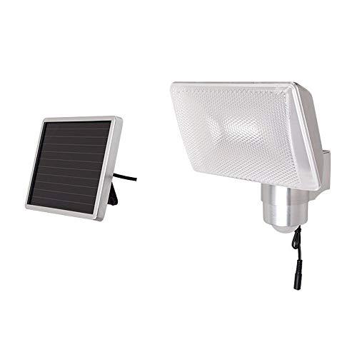 Proyector Solar Led,BateríA 8 Led Con Panel Solar,Luz De Pared Del Sensor Infrarrojo Del Cuerpo Humano, 5 Metros De Largo,Ip44 A Prueba De Agua,Panel De Luz Solar Exterior Terraza, JardíN, Terraza