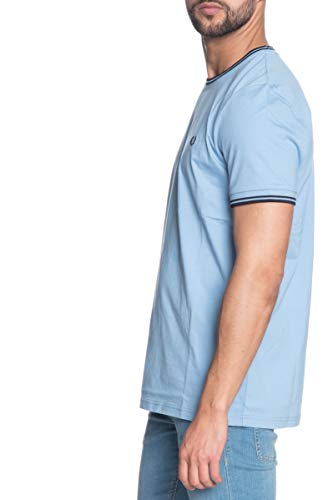 Fred Perry Heren Twin Tipped T-Shirt M1588 444 Blauw