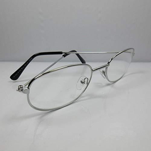 Fitsch Online UG Klassieke leesbril voor heren +1,0 metalen design 6 kant-en-klare bril leeshulp etui