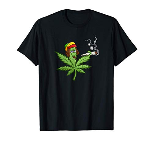 Stoned Marihuana Cannabis Weed Leaf Camiseta