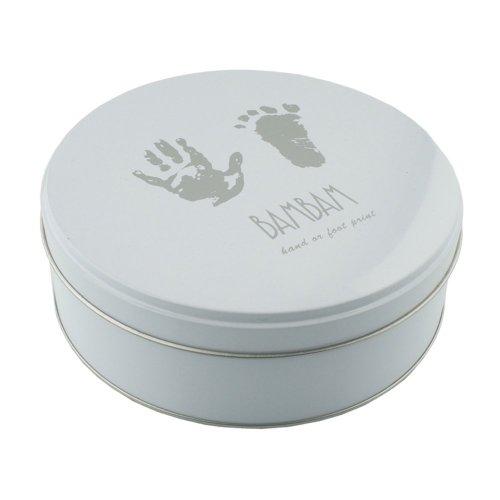 bam bam Argile Impression Empreinte de la main Empreinte de pieds Kit en Etain - New Baby Cadeau