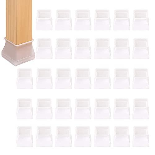 34pcs Protector Patas Sillas,Patas Sillas de Silicona,Tapas para patas de silla,para Piernas Silla Protectores para Pata Silla para Suelo Silla,para Evitar Arañazos Ruidos