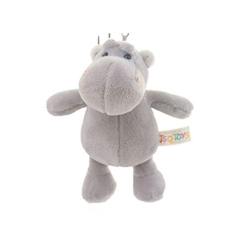 SLLX Lindo Dibujos Animados Animal Peluche Llavero 13cm-15cm Tortuga Elefante Monkey Tigre león león hipopótamo Mapache Bear Conejo Lobo Pinguin Bulldog (Color : Grey Hippo)