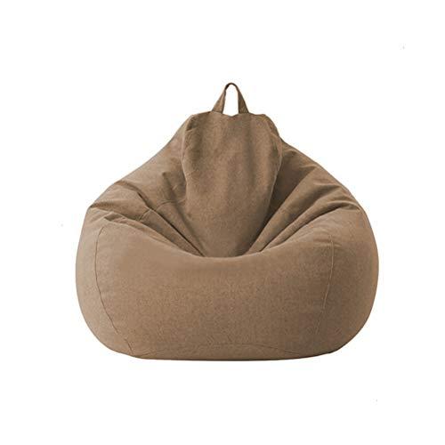 Yousiju Große kleine Faule Sofas Decken Stühle ohne Füllstoff Leinen Stoff Liegesitz Sitzsack Couch Tatami Wohnzimmer (Color : Deep Coffee, Size : 70x80cm)