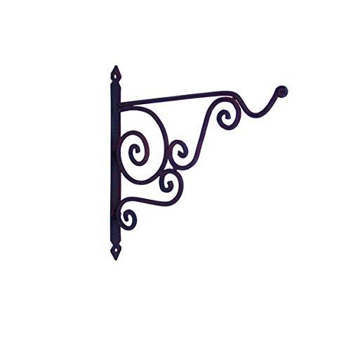 Orientalischer Wandhaken marokkanischer Blumenhaken 28 x 25,5 cm edel rostbraun Laternen-Haken für Blumenampel Wand-Deko | Kunsthandwerk aus Marrakesch | Schöne Dekoration Blumenhalter | L1733