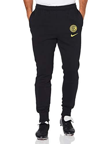 Nike INTER M NK GFA FLC PANT KZ, Pantaloni Sportivi Uomo, black/(tour yellow) (no sponsor), L