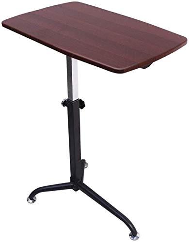 Mesa sobrecama de elevación móvil mesa de ordenador sofá mesa auxiliar escritorio simple mesa de desayuno portátil (cuatro colores opcionales) 62 x 38 cm (color de madera - madera de cerezo