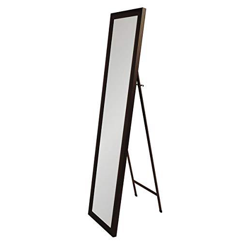 Espejo de pie marrón clásico de plástico de 27x157 cm - LOLAhome
