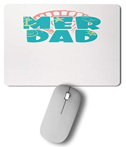 SPIRITSHIRTSHOP Mer Dad - Meerjungpapa - Muschel, Seestern und Anker - Mousepad -27cm x 19cm-