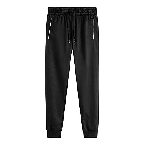 N\P Pantalones de deporte para hombre pantalones de deporte para hombre pantalones largos para hombre, Negro, 3XL