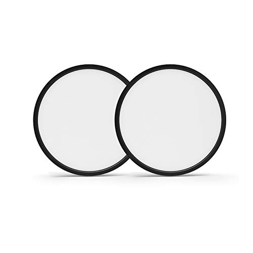 Taloya 2 Pack LED Flush Mount Ceiling Light Black 5000K 8.9 Inch Round 18W=180W (Equivalent) Simple Lamp for Bedroom Hallway Low Ceilings Areas