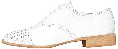 find. Schuhe Damen aus Leder mit Lochverzierungen, Weiß (White), 39 EU