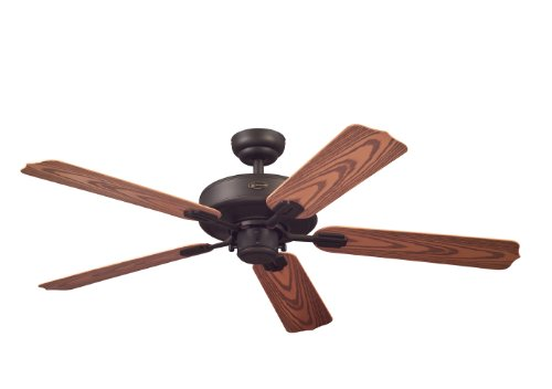 Westinghouse Lighting 7247800 Willow Breeze Five-Blade Indoor/Outdoor Ceiling Fan, 52-Inch, Oil Rubbed Bronze Finish
