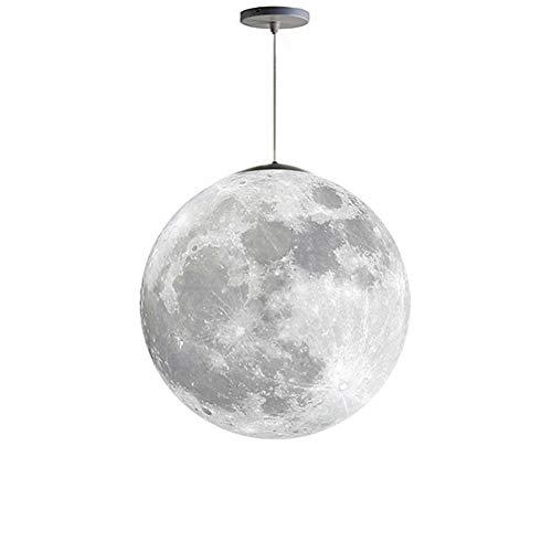 Lámpara de techo 3D Moon Chandelier con bombillas LED de araña para la oficina del dormitorio de los niños