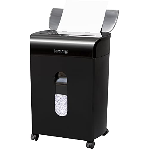 Boxis AutoShred 60-Sheet Auto Feed Microcut Paper Shredder - Includes a...