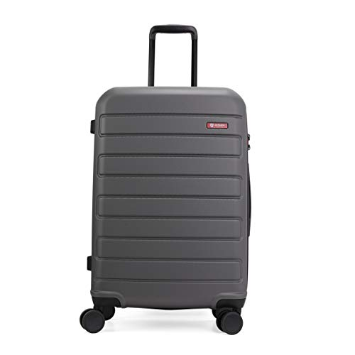 GinzaTravel Hardside Spinner, Carry-On, Wear-resistant, scratch-resistant Suitcase Luggage with Wheels (20-inch, Grey color)