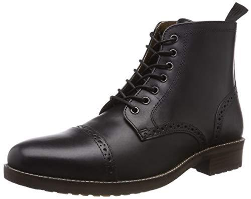 Red Tape Herren Benham Biker Boots, Schwarz (Black 0), 43 EU