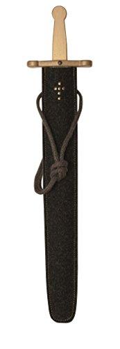 Stabiles Schwertset mit lackiertem Prunkschwert, 65 cm Länge und Schwert-Scheide aus Filz