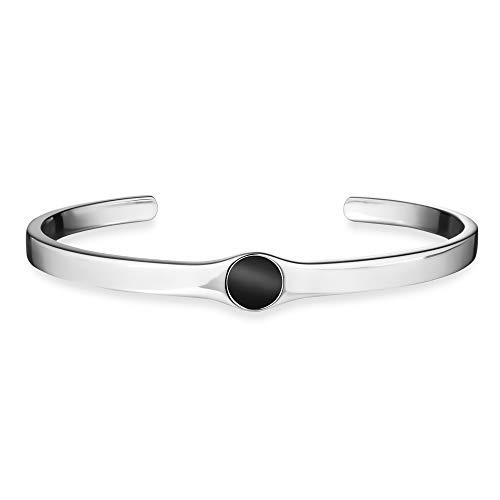 caï men Herren-Armreif 925 Silber rhodiniert Onyx schwarz 6,5 cm C4239B/90/13/