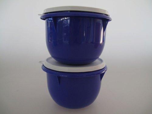 TUPPERWARE Rührschüssel PENG 1,0L Blau-Lila (2) Mixing Bowl Germteig Schüssel Teig