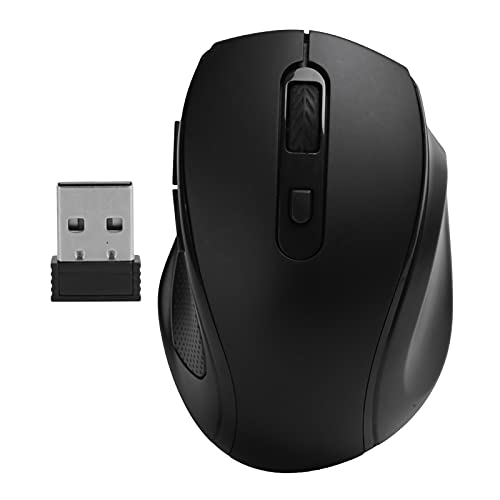 Wireless Mouse 2.4Ghz Office/Gaming Ergonomic Mice Notebook Desktop Computer Accessories Portable & Ergonomic Mouse(Black)