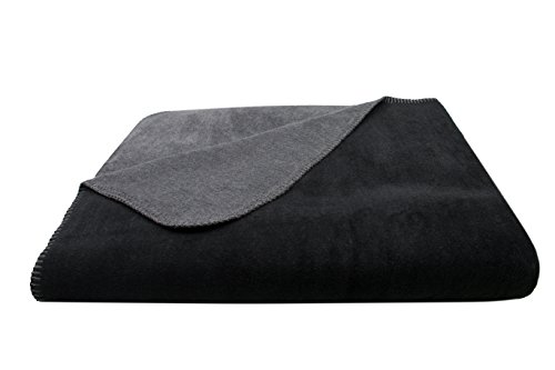 ZOLLNER Kuscheldecke, 150x200 cm, Schwarz-Grau (weitere verfügbar)