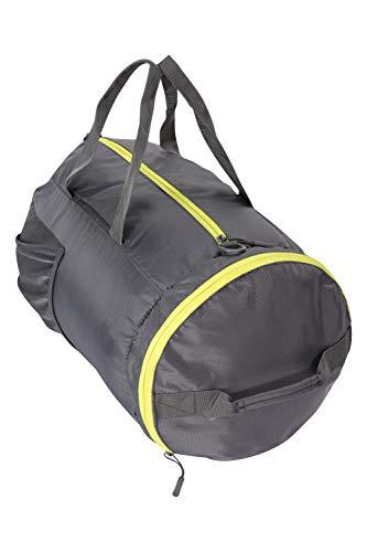 Mountain Warehouse Packaway - Sac de Sport - 40 L - Sac à bandoulière et à Main - Sangles de Sport - Peut être porté comme Un Sac à Dos ou Un Sac de Sport Gris Taille Unique