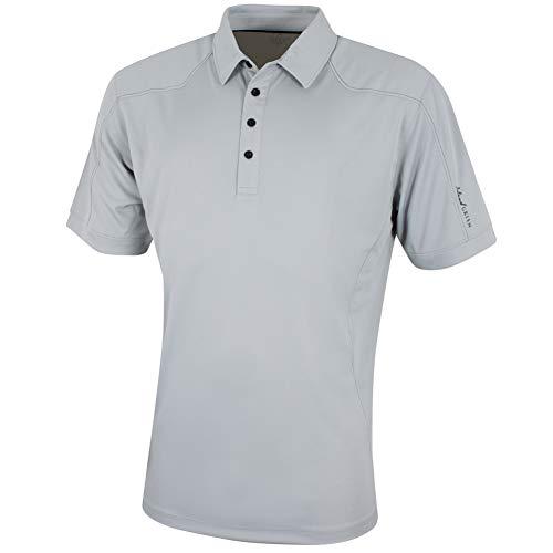 Island Green Herren Golf-Poloshirt, Battleship Grau, Größe L