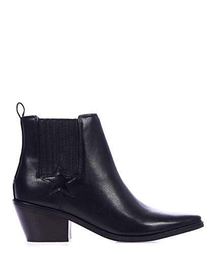 Luxury Fashion | Guess Dames FL5NEALEA10BLACK Zwart Leer Enkellaarzen | Lente-zomer 20