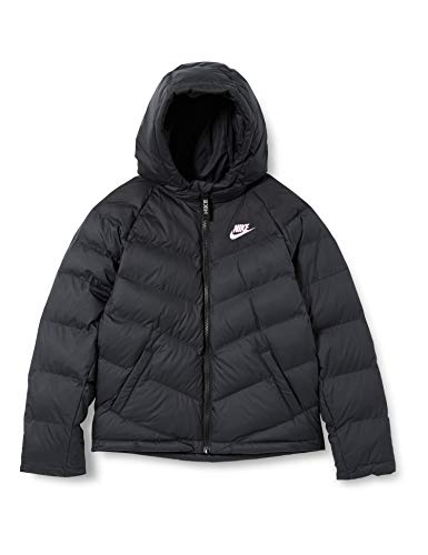 NIKE Chaqueta sintética para chico, Niños, Chaqueta, CU9157, Negro/Black/Black/Lt Arctic Pi, 128-134