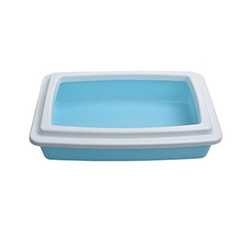 Yfdmbk Completo Semicerrado Anti-Spatter Supply Cat Supplies Cat Litter Box (Color : Blue)