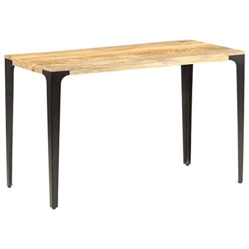 Goliraya Mesa de Comedor mesas de Cocina Leroy Merlin de Madera Maciza de Mango 120x60x76 cm