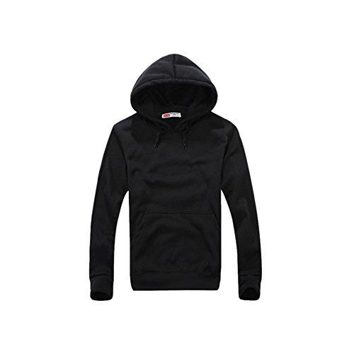 Meijunter Mens Comfort Veste à Capuche Chaud à Capuche en Molleton Pull Outwear Tops Hoody Hoodies Color Black Asian Size L