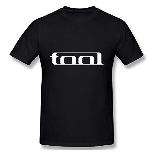 FEA Men's T-Shirt Tool Band Print Sports Shirt Gym Tees Short Sleeve XL Black