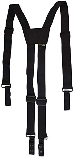 AISENIN Nylon Police Suspenders for Duty Belt, Tactical Duty Belt Harness For Duty Belt, 4 Loop Attachment,Black