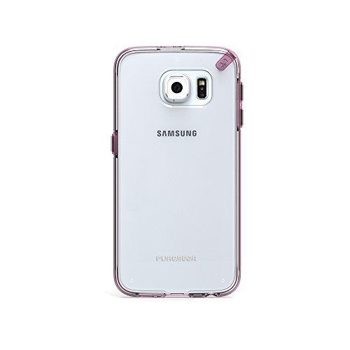 PureGear für Samsung Galaxy S6, Schmale Hülle PRO, transparent/pink