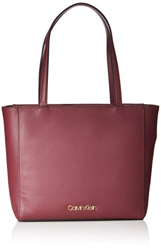 Calvin Klein Tote, Bolso para Mujer, vino, One Size