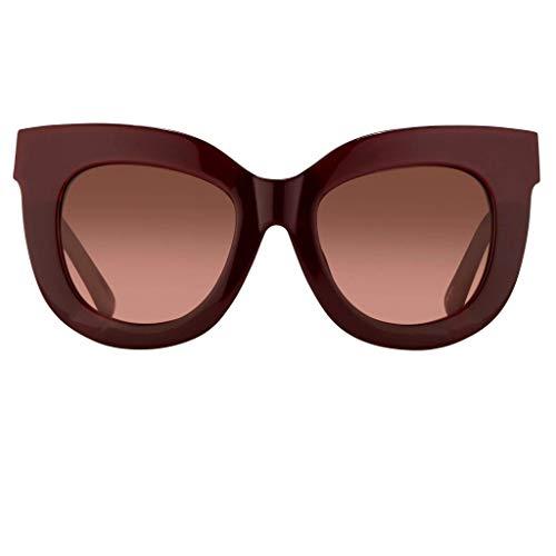 Erdem EDM20C2SUN - Gafas de sol para mujer, color granate con rosa