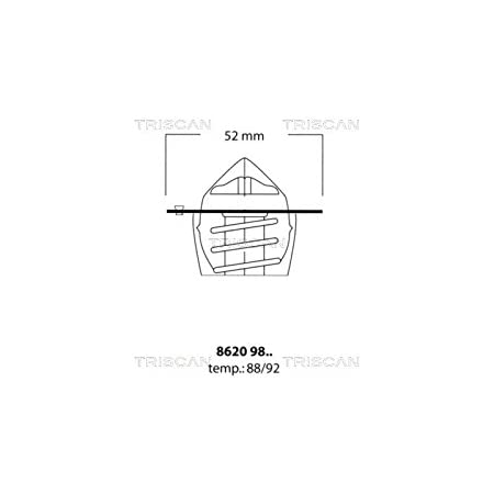 Triscan 86209892 Thermostat