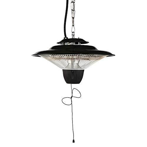 RJJBYY Calentador de cenador al aire libre, calentador de patio comercial de 2500 W, calentador de techo para sombrilla, calentador halógeno súper silencioso para patio, garaje, balcón