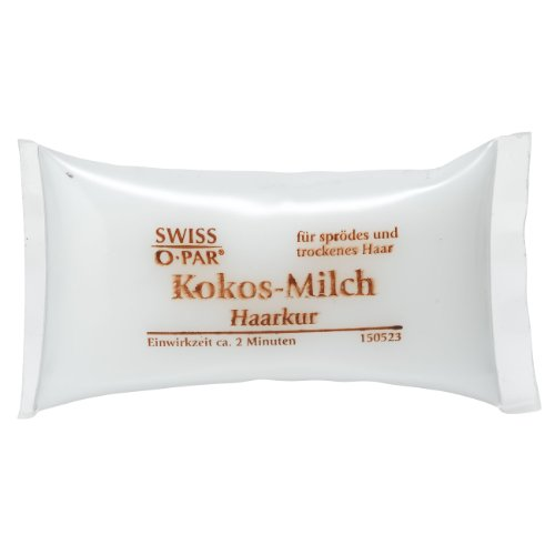 Swiss O Par - Tratamiento capilar de viaje con leche de coco, 5 x 25 ml