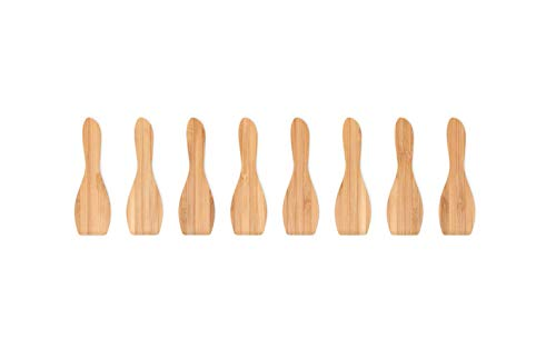 Pebbly Natural NBA008 Set de 8 Spatules à Raclette