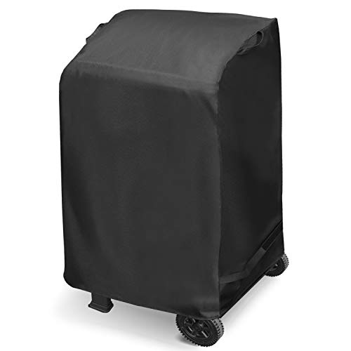Arcedo 2 Burner Gas Grill Cover 32 Inch, Heavy Duty Waterproof Small BBQ Grill Cover, All Weather Resistant Barbecue Cover, Fits Weber Char-Broil KitchenAid and More Grills, Black Covers Grill