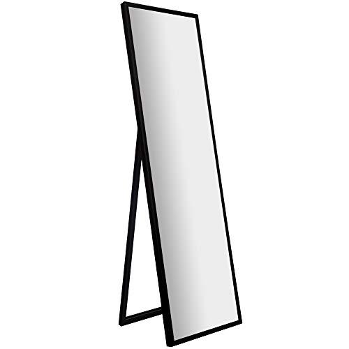 "Gallery Solutions Framed Floor Free Standing Easel Full Length Mirror, 16"" x 57"", Black"