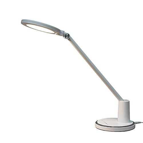 Lámpara de mesa regulable del dormitorio, luz de lectura LED plegable de 10W con 3 temperaturas de color, 3000-6000K, lámpara de escritorio de cabecera de control táctil para oficina para niños y dorm
