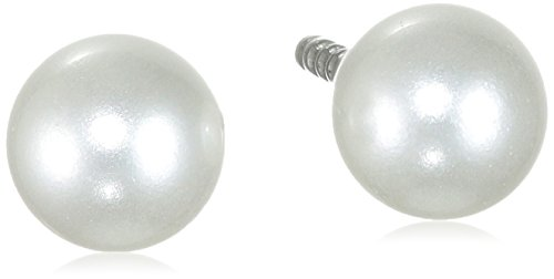 Pure Grey 17000 Women's Stud Earrings Titanium White